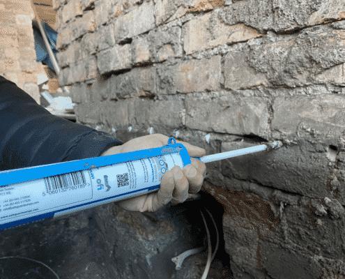 Rising Damp Application By Toner Damp Proofing Ltd in Belfast Northern Ireland