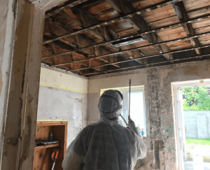 Woodworm. Dryrot. Wer Rot. Application By Toner Damp Proofing Ltd in Belfast Northern Ireland